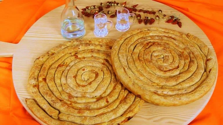 Zucchini Pie with Smoked Pork & Metsovone