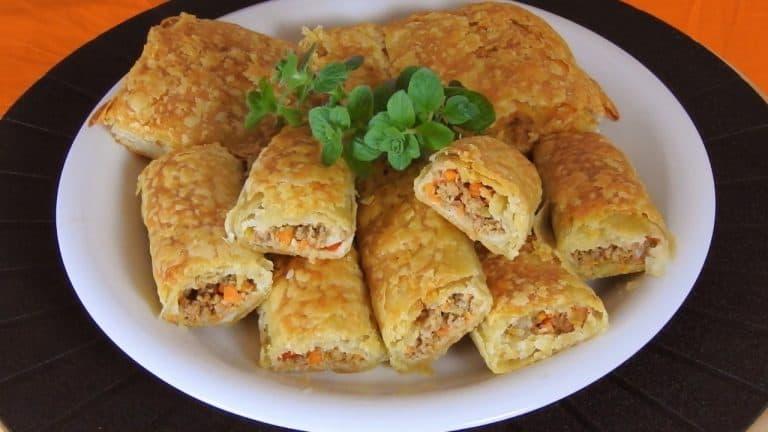 Ground Beef & Veggie Pies with Flaky Pastry (Phyllo ver.6)