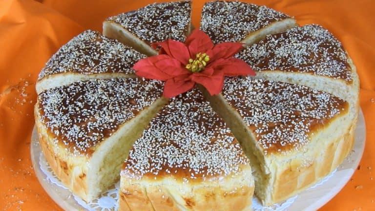 New Year's Day Traditional Tsoureki Bread