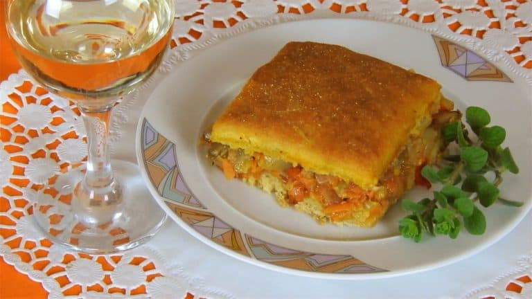 Fasting Vegetable Pie with Easy Homemade Dough