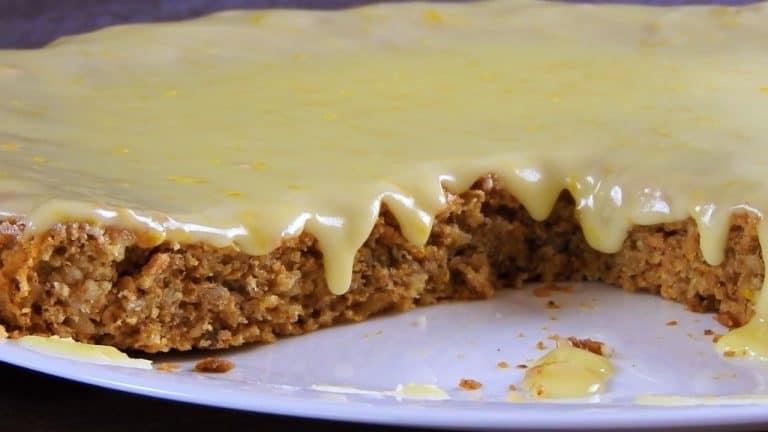 Easy Walnut Pie with Orange Glaze (Fasting – without eggs & fat)