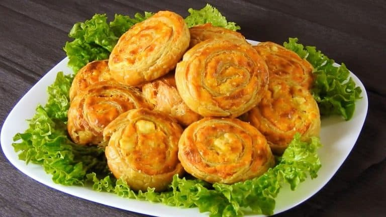 Puff Pastry Pinwheels with Sweet Potato & Cheese Filling