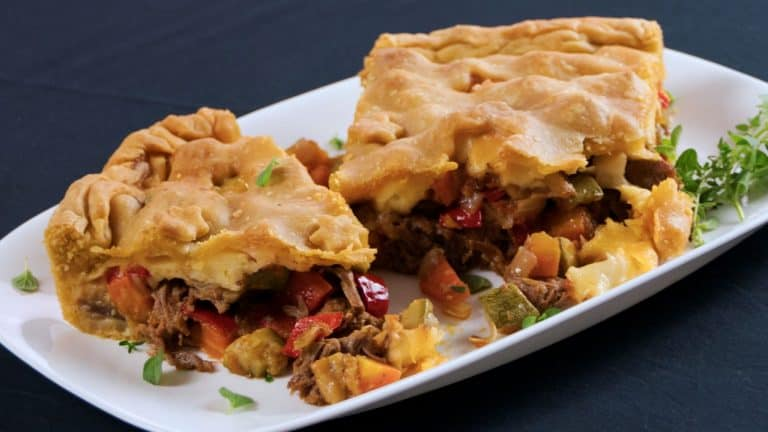 Marinated Beef and Vegetable Pie (Easy Homemade Dough)