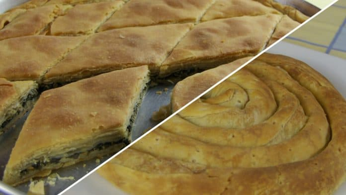Spinach-leek-pie-and-potato-pie-with-homemade-phyllo