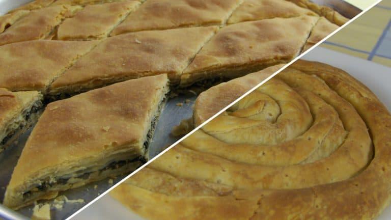 Spinach – Leek Pie & Potato Pie w/ Homemade Phyllo