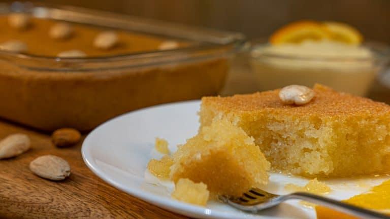 Samali – Syrup Semolina Cake with Mastic